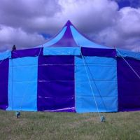 30ft Purple and Blue