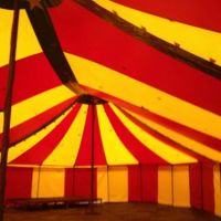 40x69ft Red and Yellow interior